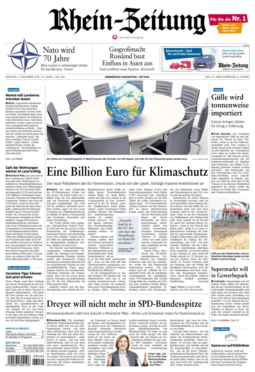 Rhein-Zeitung Kreis Ahrweiler vom Dienstag, 03.12.2019