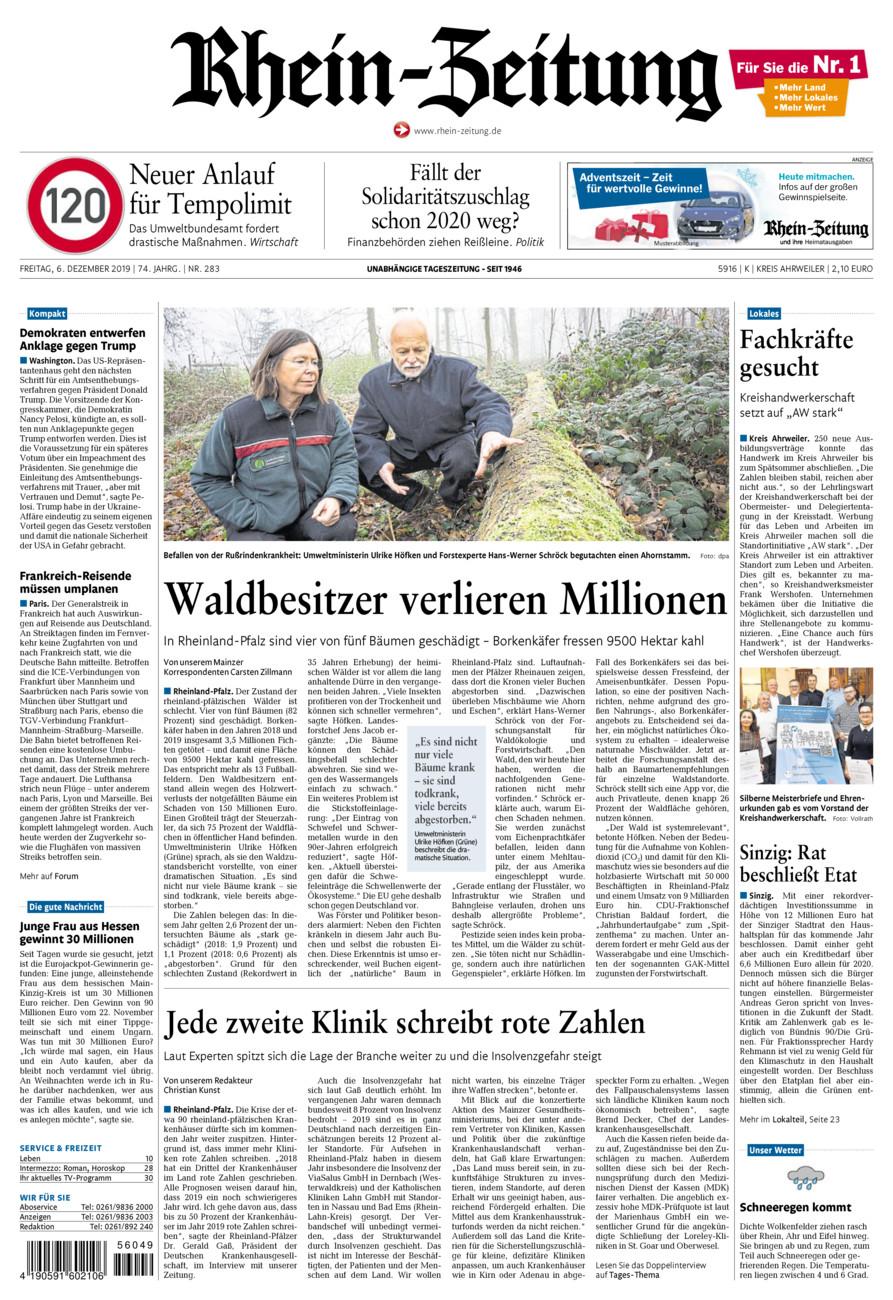 Rhein-Zeitung Kreis Ahrweiler vom Freitag, 06.12.2019