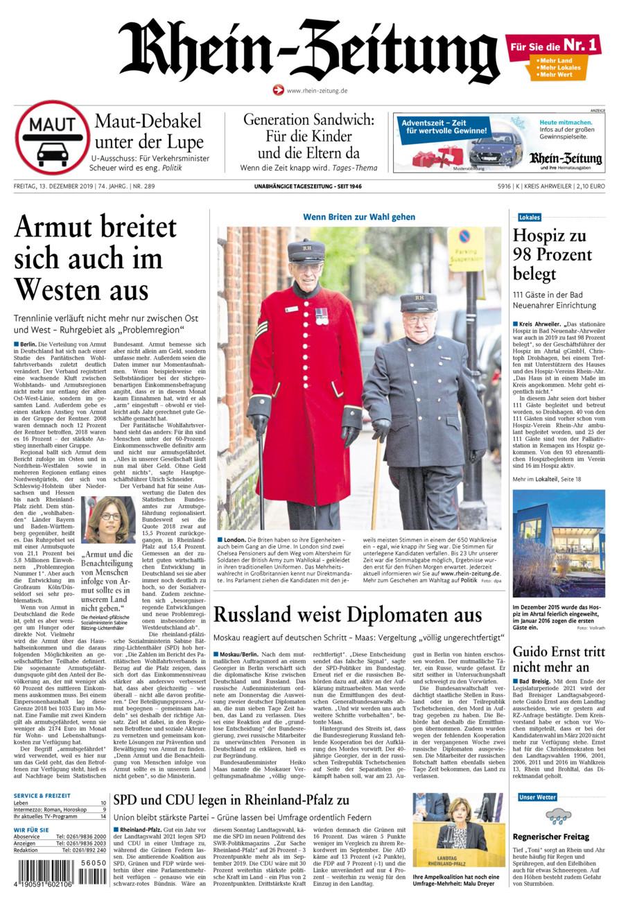 Rhein-Zeitung Kreis Ahrweiler vom Freitag, 13.12.2019