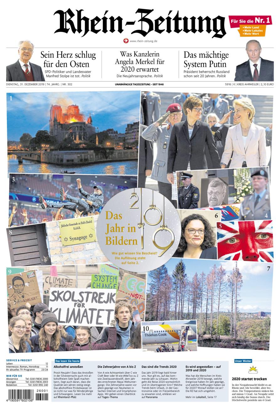Rhein-Zeitung Kreis Ahrweiler vom Dienstag, 31.12.2019