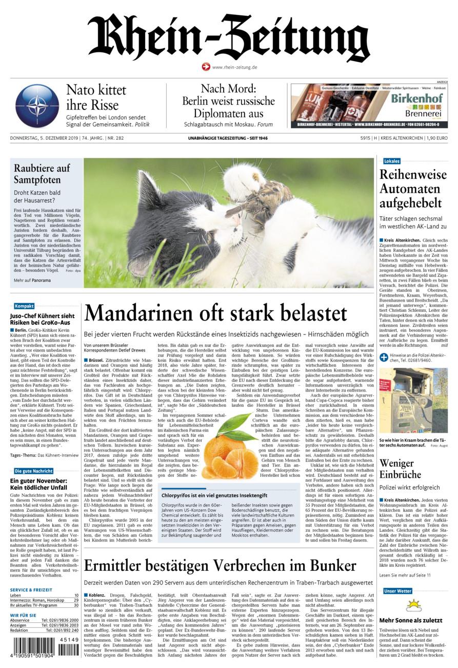 Rhein-Zeitung Kreis Altenkirchen vom Donnerstag, 05.12.2019