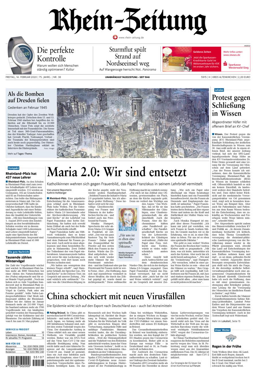Rhein-Zeitung Kreis Altenkirchen vom Freitag, 14.02.2020