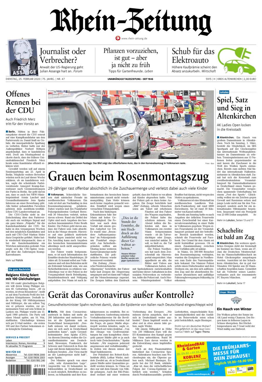 Rhein-Zeitung Kreis Altenkirchen vom Dienstag, 25.02.2020
