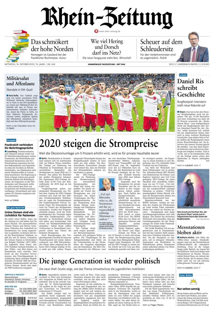 Rhein-Zeitung Andernach & Mayen vom Mittwoch, 16.10.2019