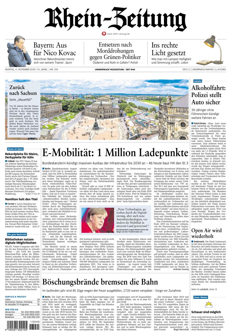 Rhein-Zeitung Andernach & Mayen vom Montag, 04.11.2019