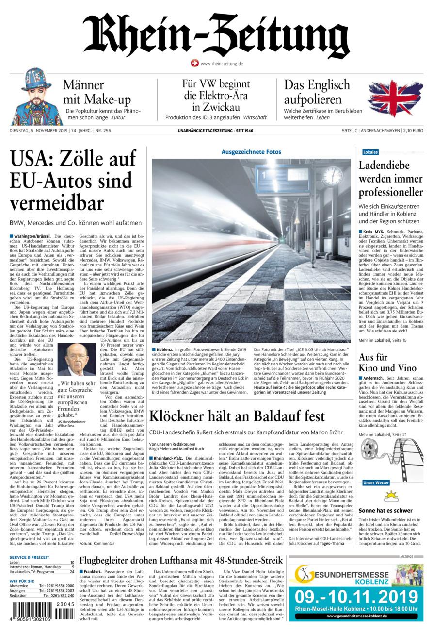 Rhein-Zeitung Andernach & Mayen vom Dienstag, 05.11.2019