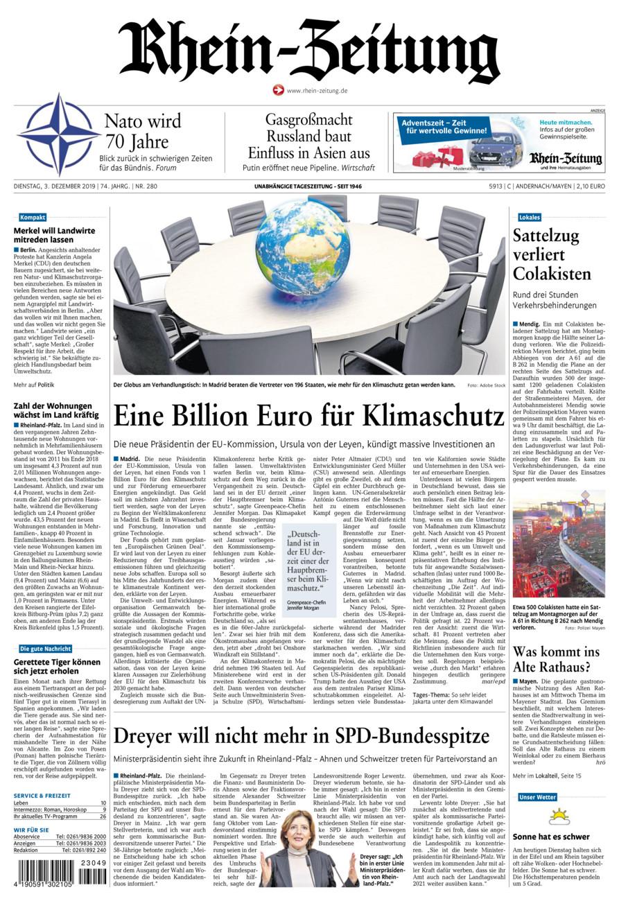 Rhein-Zeitung Andernach & Mayen vom Dienstag, 03.12.2019