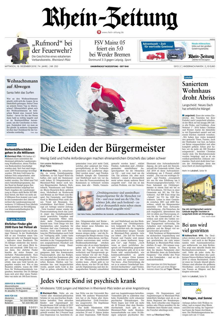 Rhein-Zeitung Andernach & Mayen vom Mittwoch, 18.12.2019