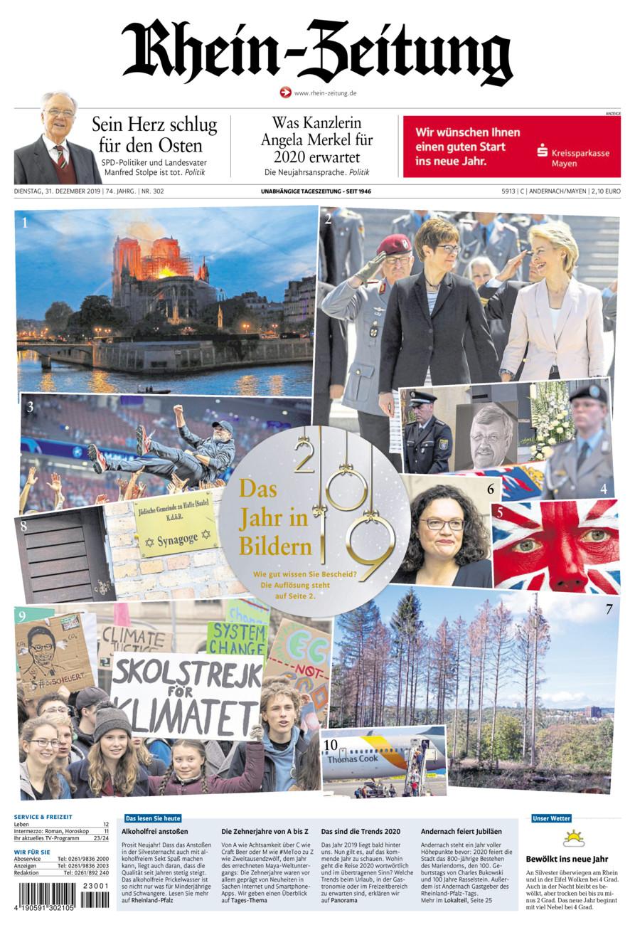 Rhein-Zeitung Andernach & Mayen vom Dienstag, 31.12.2019