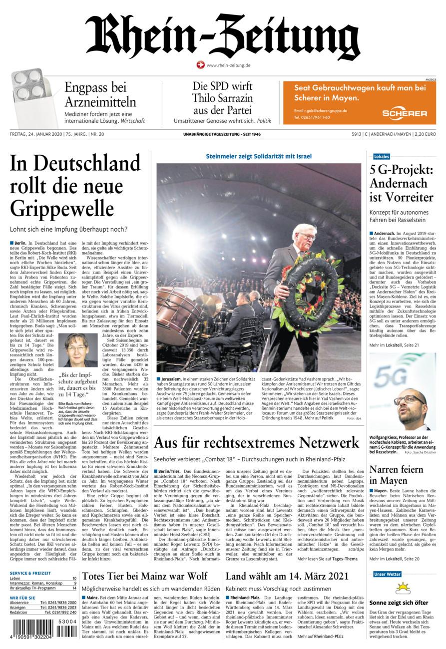 Rhein-Zeitung Andernach & Mayen vom Freitag, 24.01.2020