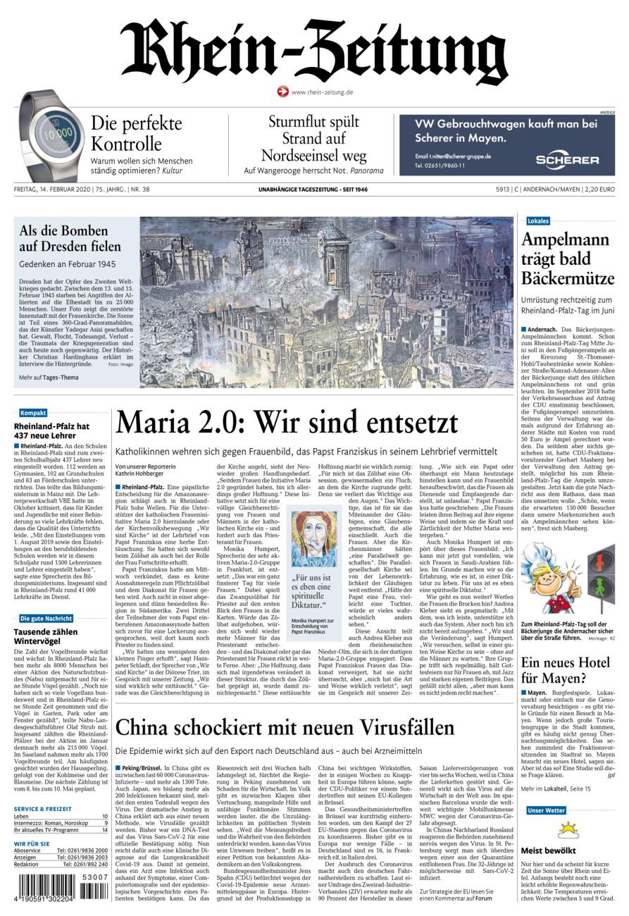 Rhein-Zeitung Andernach & Mayen vom Freitag, 14.02.2020