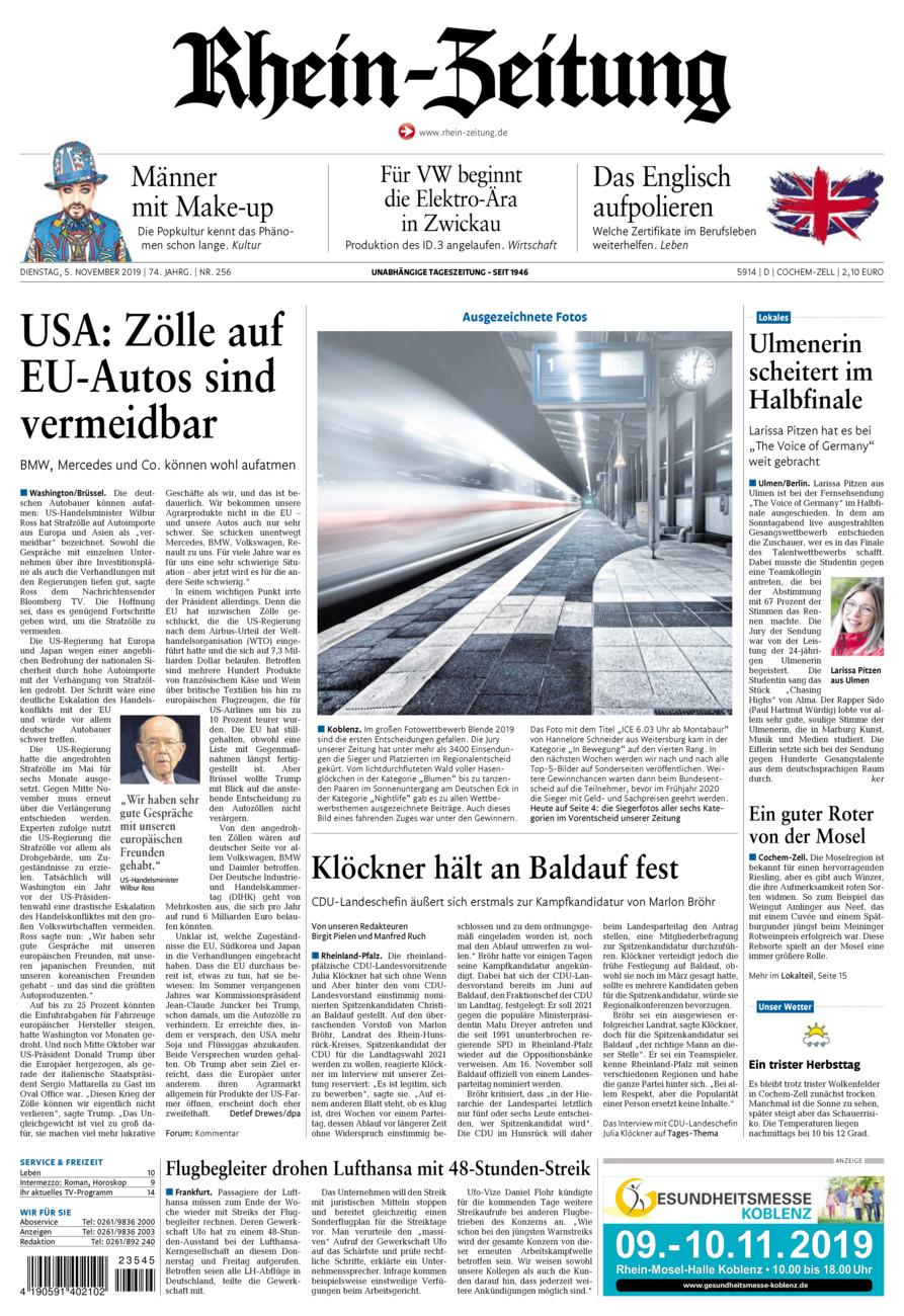 Rhein-Zeitung Kreis Cochem-Zell vom Dienstag, 05.11.2019