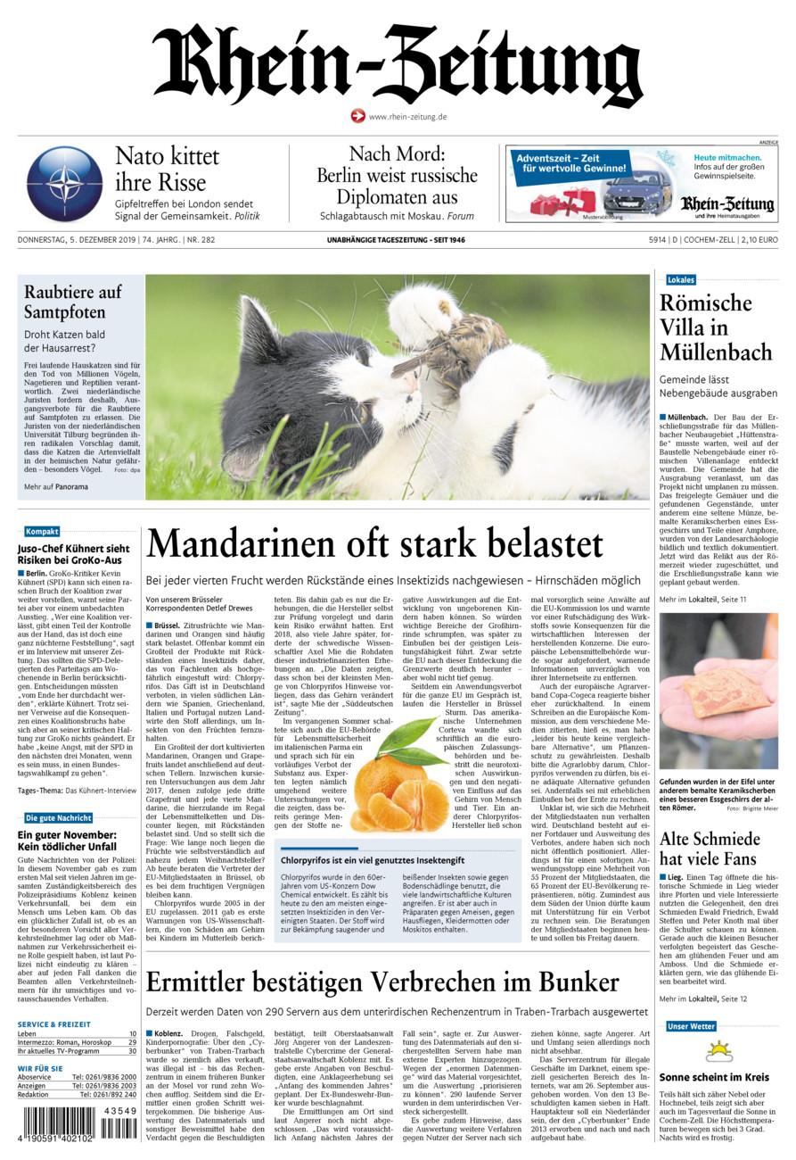 Rhein-Zeitung Kreis Cochem-Zell vom Donnerstag, 05.12.2019