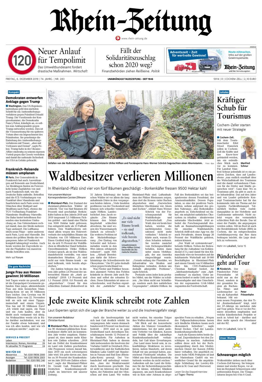 Rhein-Zeitung Kreis Cochem-Zell vom Freitag, 06.12.2019