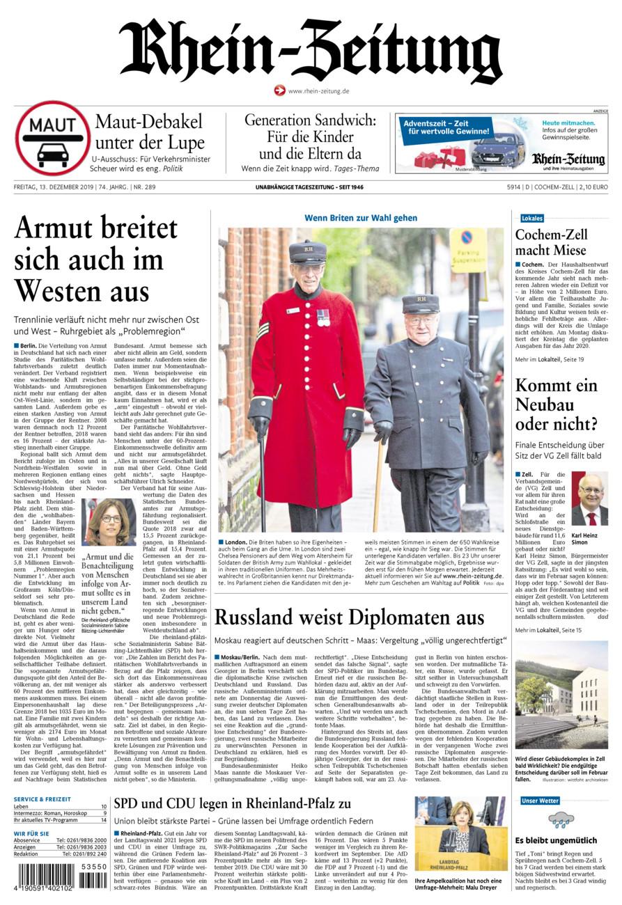 Rhein-Zeitung Kreis Cochem-Zell vom Freitag, 13.12.2019