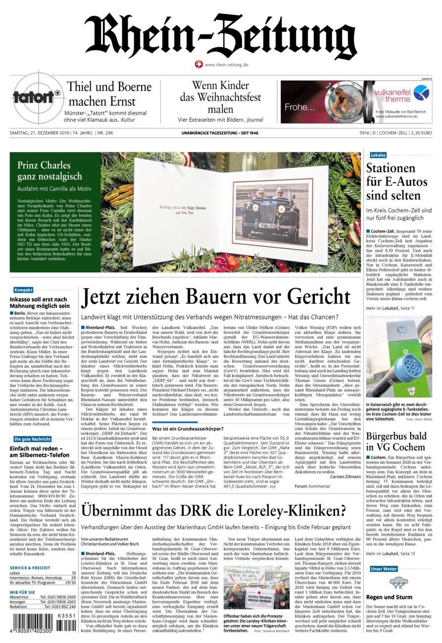 Rhein-Zeitung Kreis Cochem-Zell vom Samstag, 21.12.2019