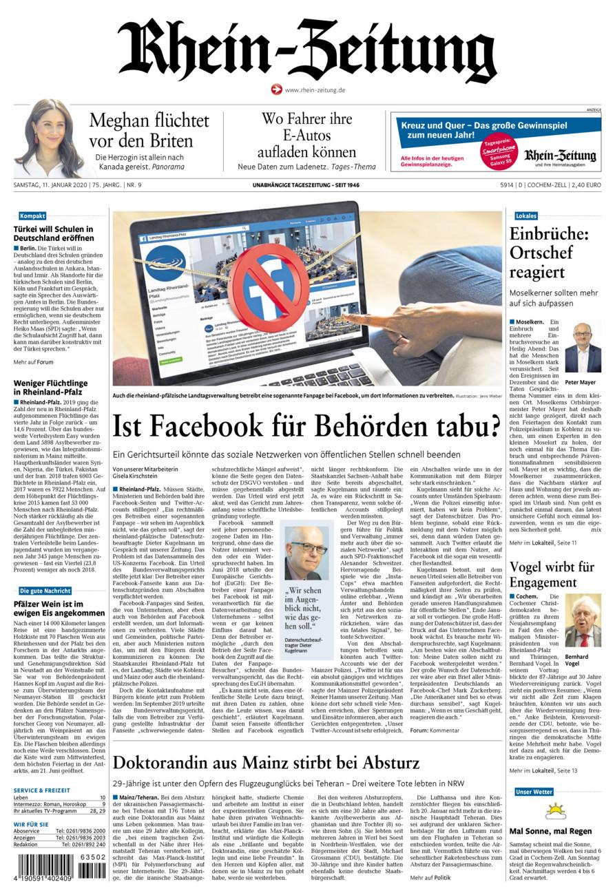 Rhein-Zeitung Kreis Cochem-Zell vom Samstag, 11.01.2020