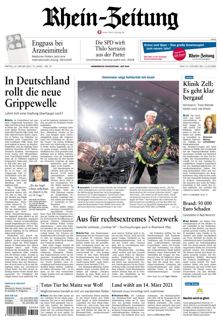 Rhein-Zeitung Kreis Cochem-Zell vom Freitag, 24.01.2020