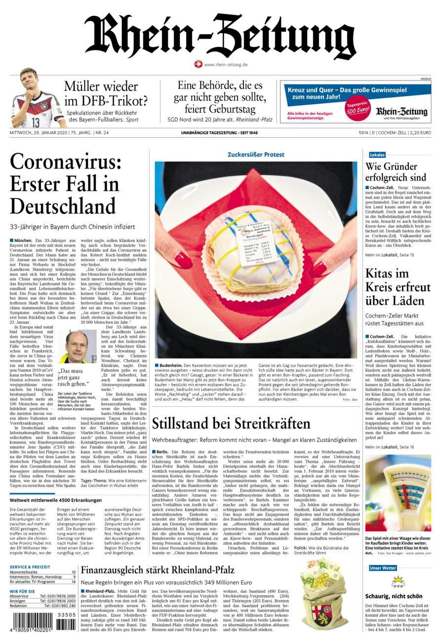 Rhein-Zeitung Kreis Cochem-Zell vom Mittwoch, 29.01.2020