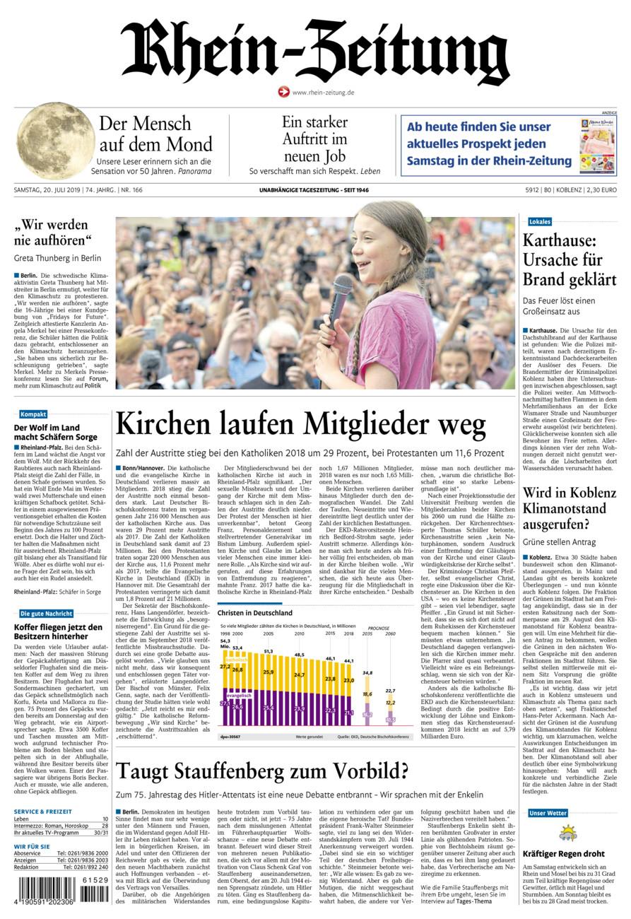 Rhein-Zeitung Koblenz & Region vom Samstag, 20.07.2019