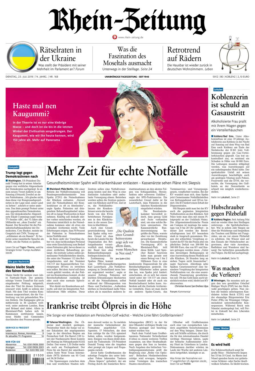 Rhein-Zeitung Koblenz & Region vom Dienstag, 23.07.2019