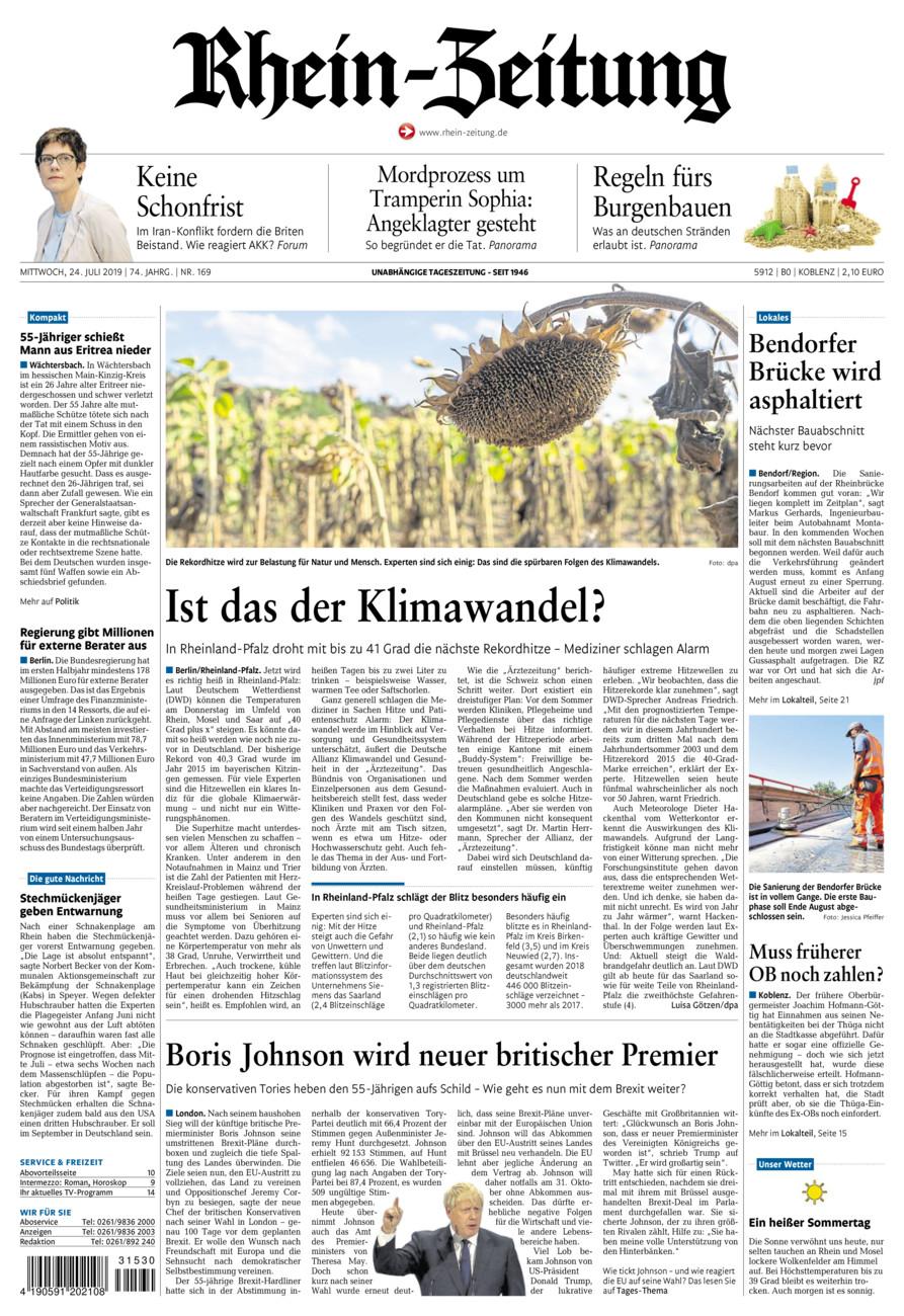 Rhein-Zeitung Koblenz & Region vom Mittwoch, 24.07.2019