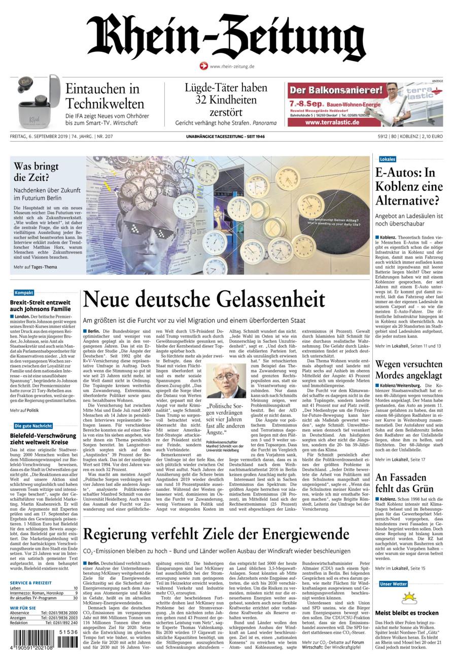 Rhein-Zeitung Koblenz & Region vom Freitag, 06.09.2019