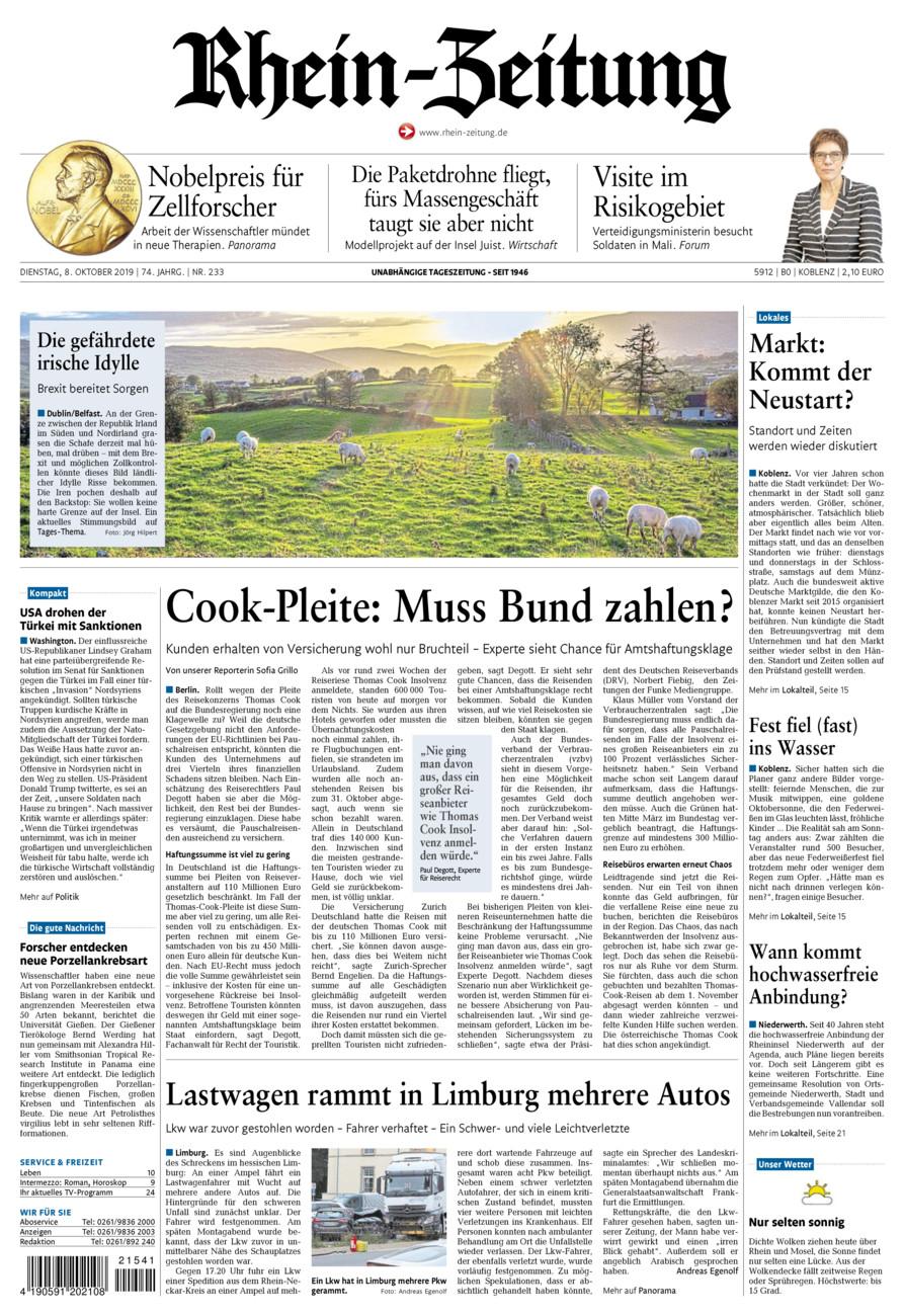 Rhein-Zeitung Koblenz & Region vom Dienstag, 08.10.2019