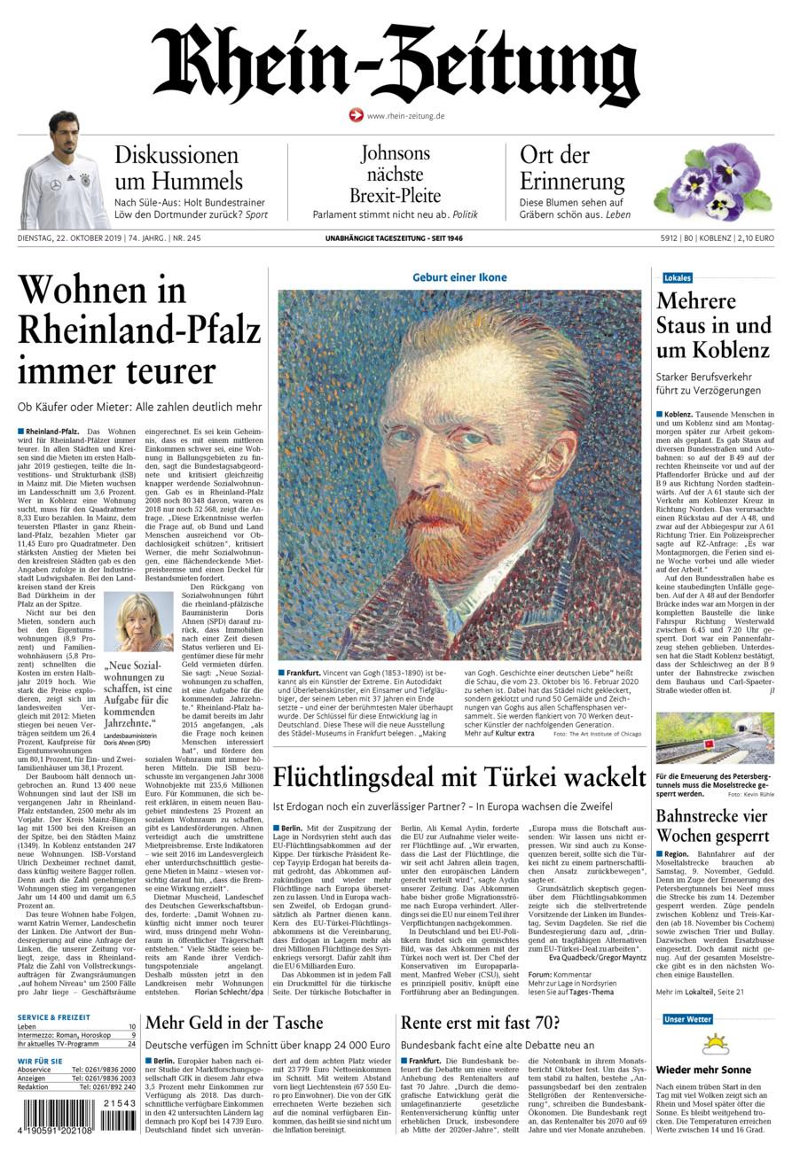 Rhein-Zeitung Koblenz & Region vom Dienstag, 22.10.2019