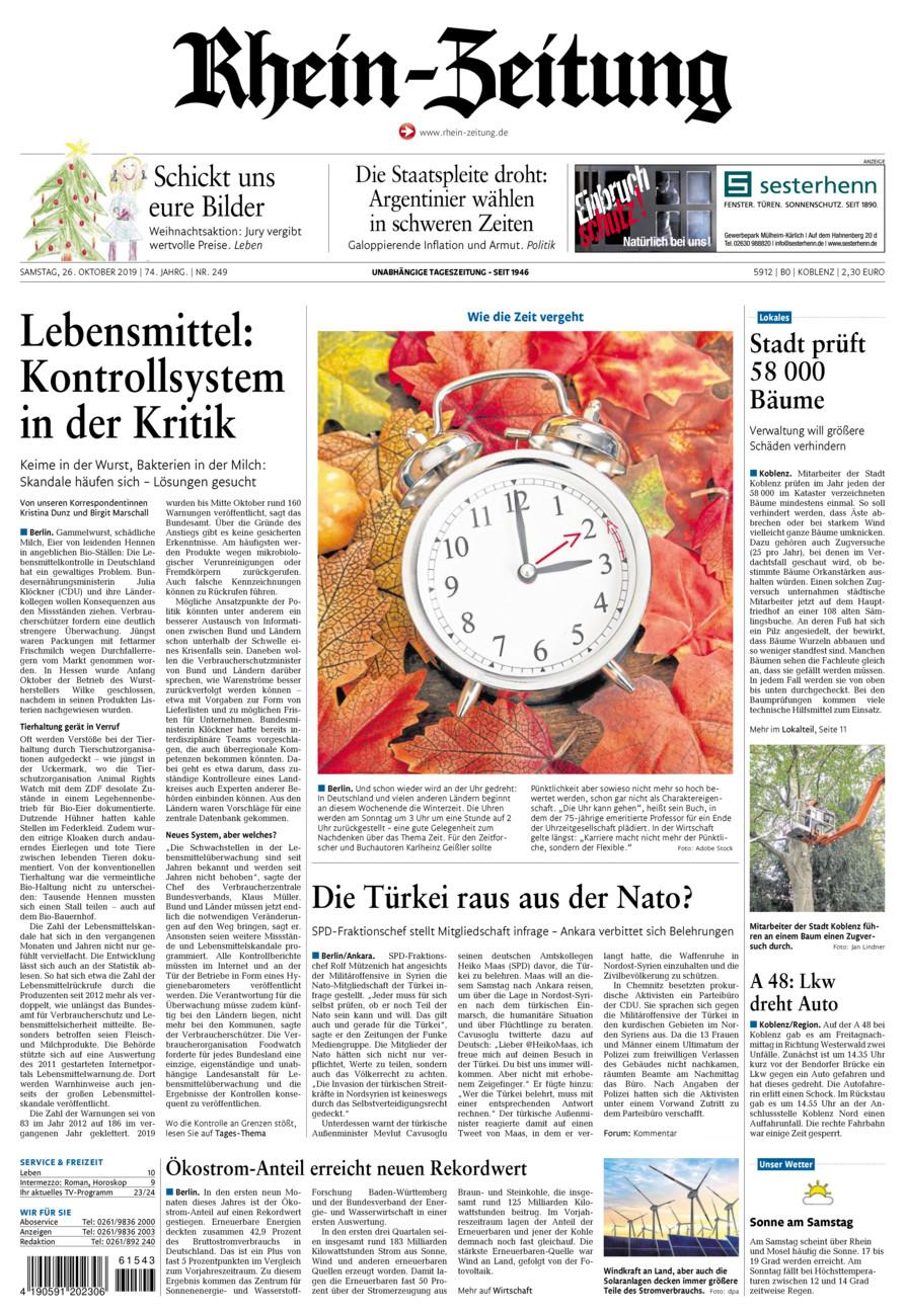 Rhein-Zeitung Koblenz & Region vom Samstag, 26.10.2019