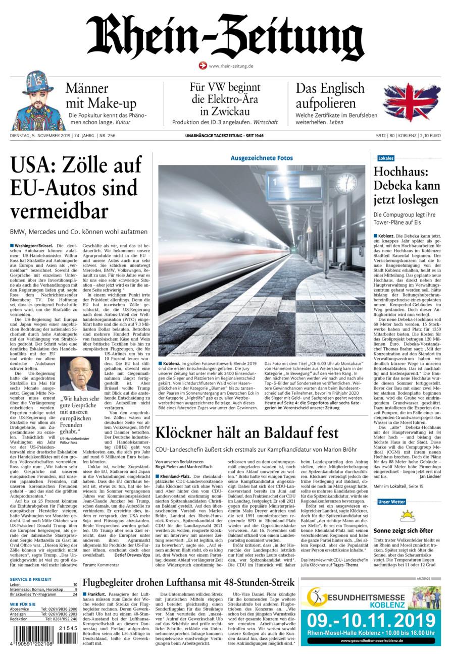 Rhein-Zeitung Koblenz & Region vom Dienstag, 05.11.2019