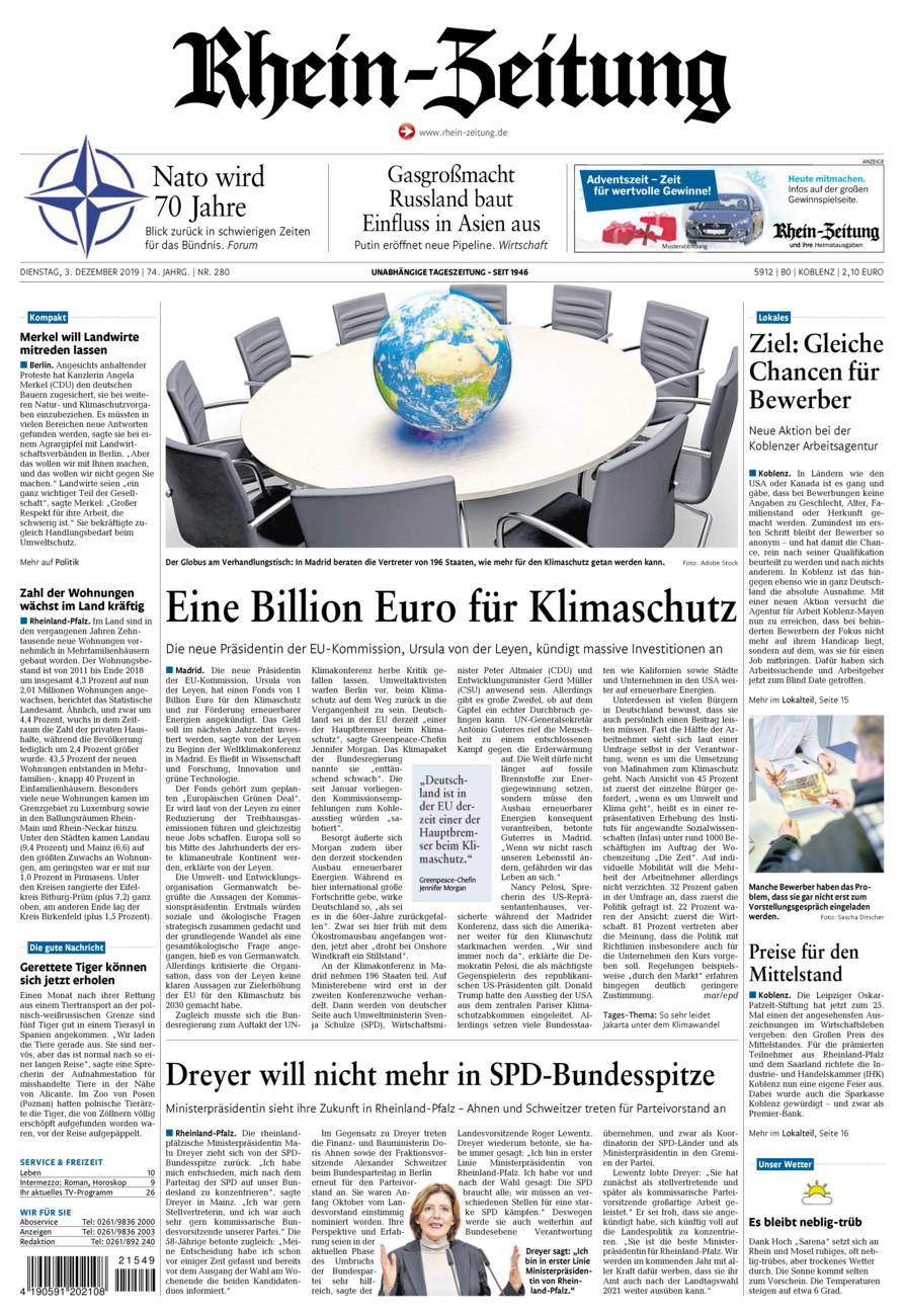Rhein-Zeitung Koblenz & Region vom Dienstag, 03.12.2019