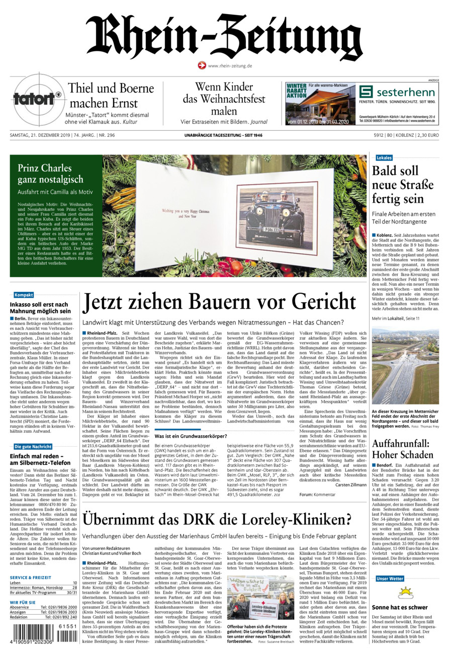 Rhein-Zeitung Koblenz & Region vom Samstag, 21.12.2019