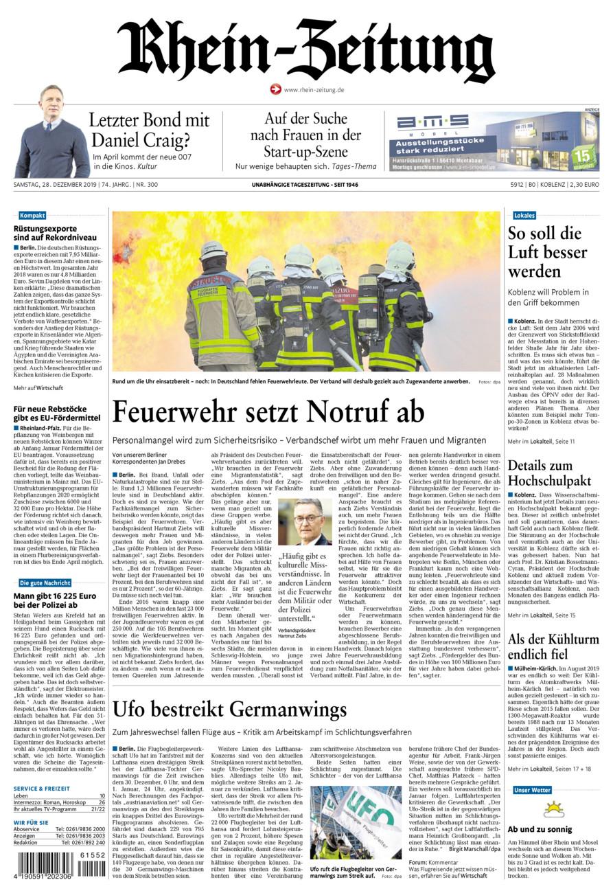 Rhein-Zeitung Koblenz & Region vom Samstag, 28.12.2019