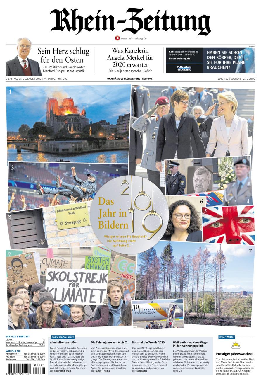 Rhein-Zeitung Koblenz & Region vom Dienstag, 31.12.2019