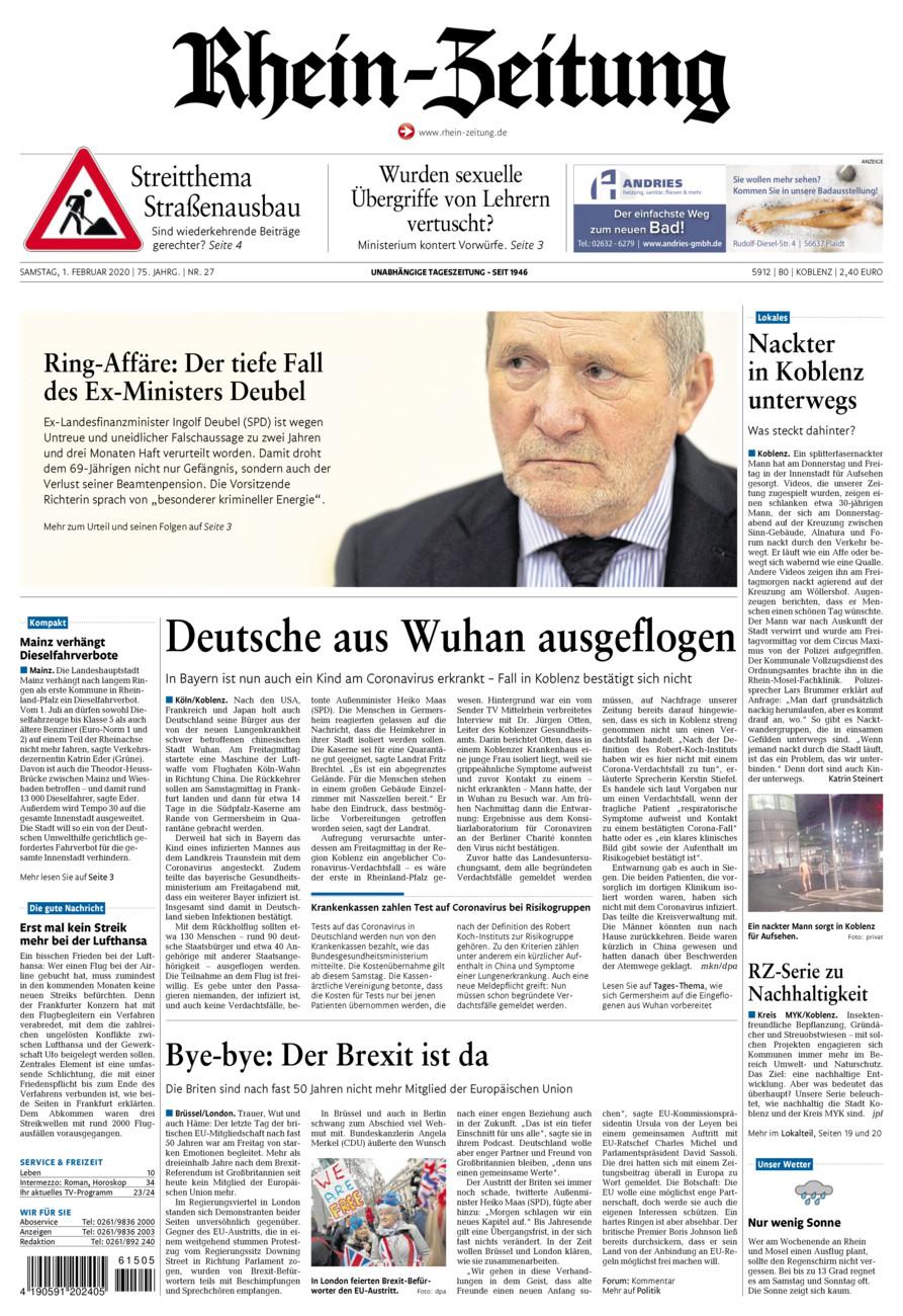 Rhein-Zeitung Koblenz & Region vom Samstag, 01.02.2020