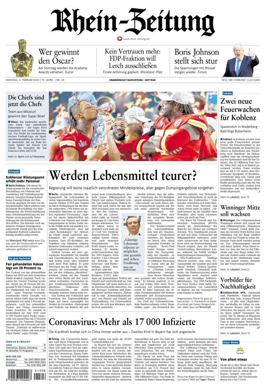Rhein-Zeitung Koblenz & Region vom Dienstag, 04.02.2020