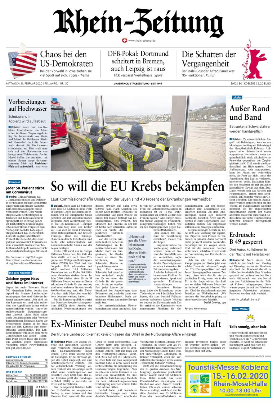 Rhein-Zeitung Koblenz & Region vom Mittwoch, 05.02.2020