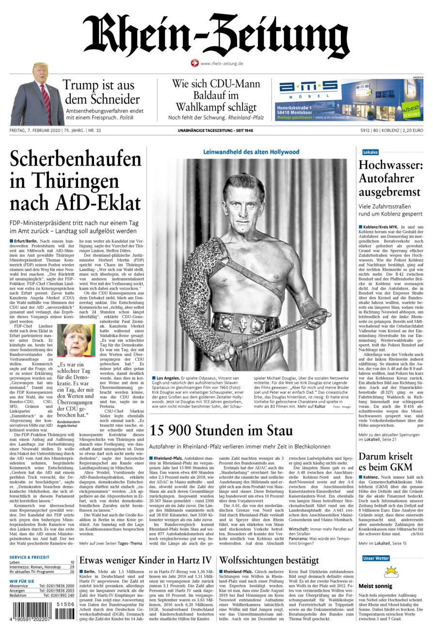 Rhein-Zeitung Koblenz & Region vom Freitag, 07.02.2020