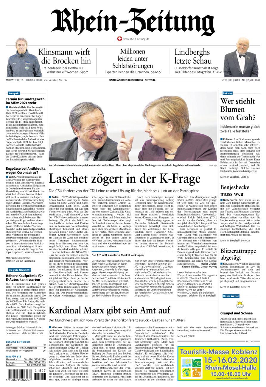 Rhein-Zeitung Koblenz & Region vom Mittwoch, 12.02.2020