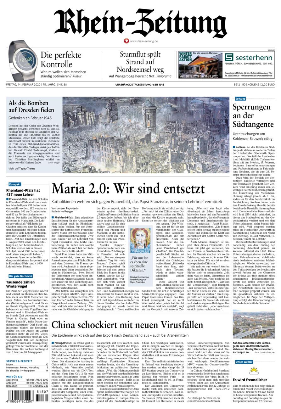 Rhein-Zeitung Koblenz & Region vom Freitag, 14.02.2020