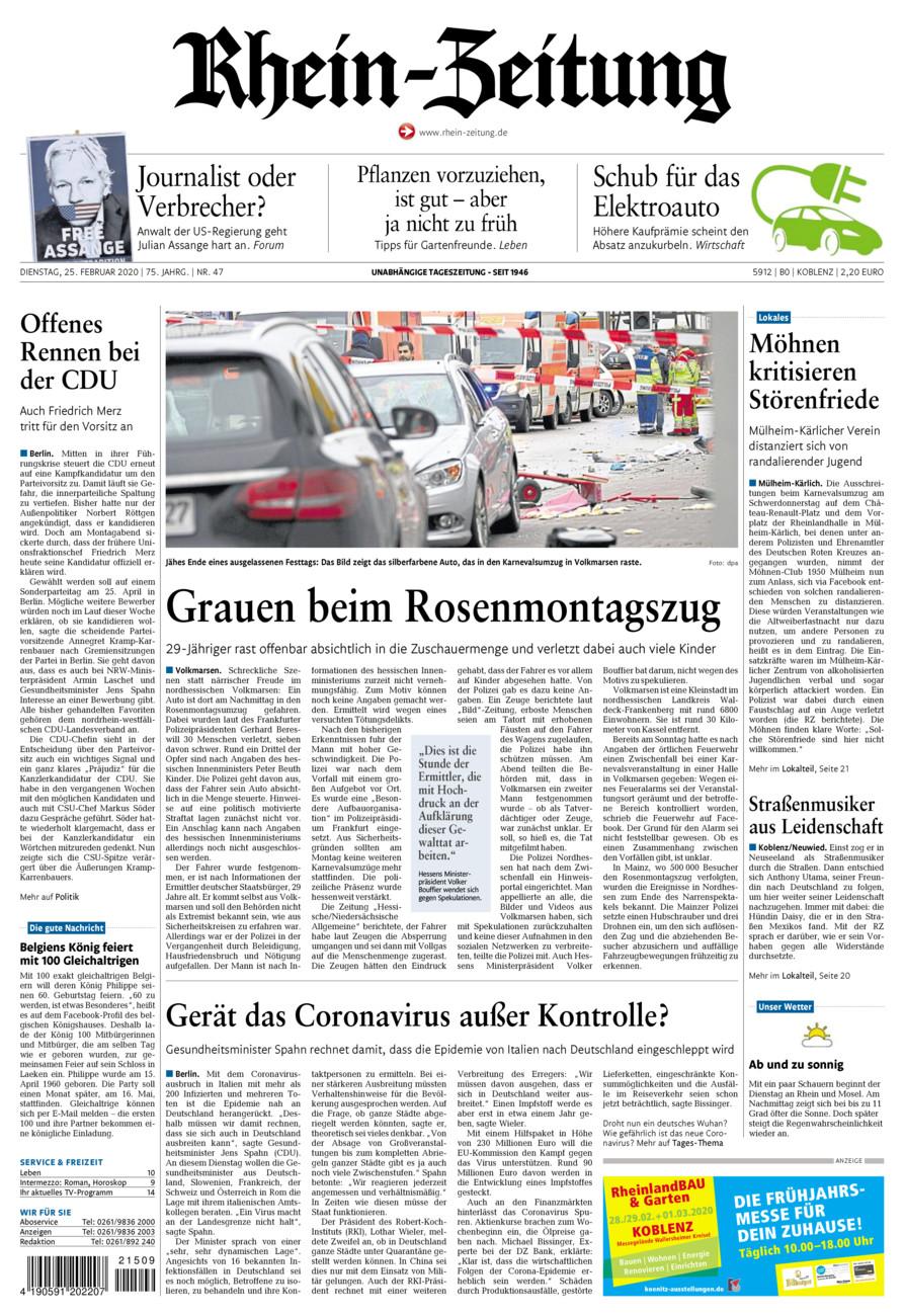 Rhein-Zeitung Koblenz & Region vom Dienstag, 25.02.2020