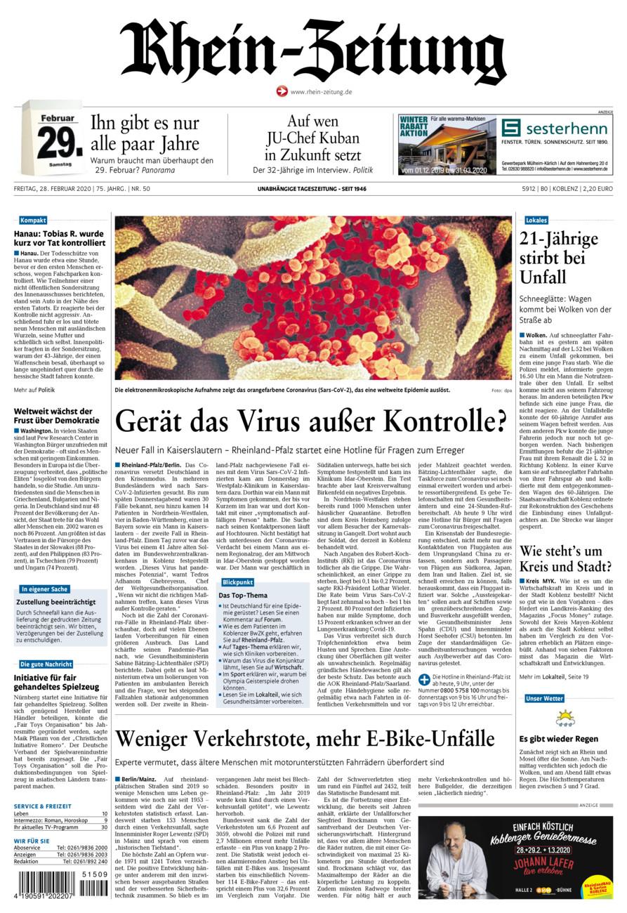 Rhein-Zeitung Koblenz & Region vom Freitag, 28.02.2020
