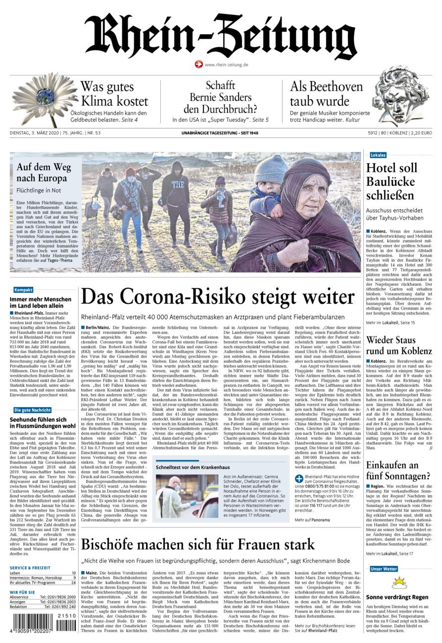 Rhein-Zeitung Koblenz & Region vom Dienstag, 03.03.2020