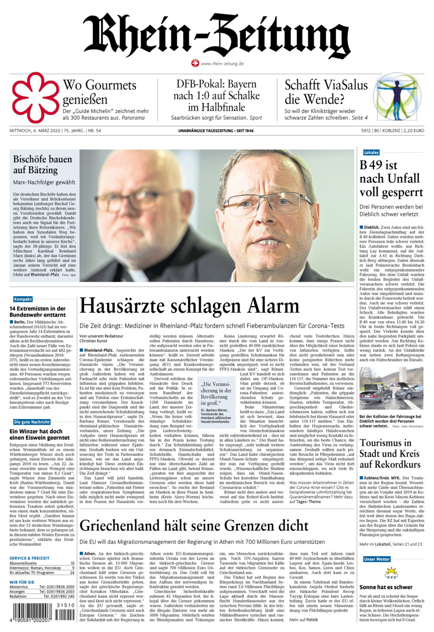 Rhein-Zeitung Koblenz & Region vom Mittwoch, 04.03.2020
