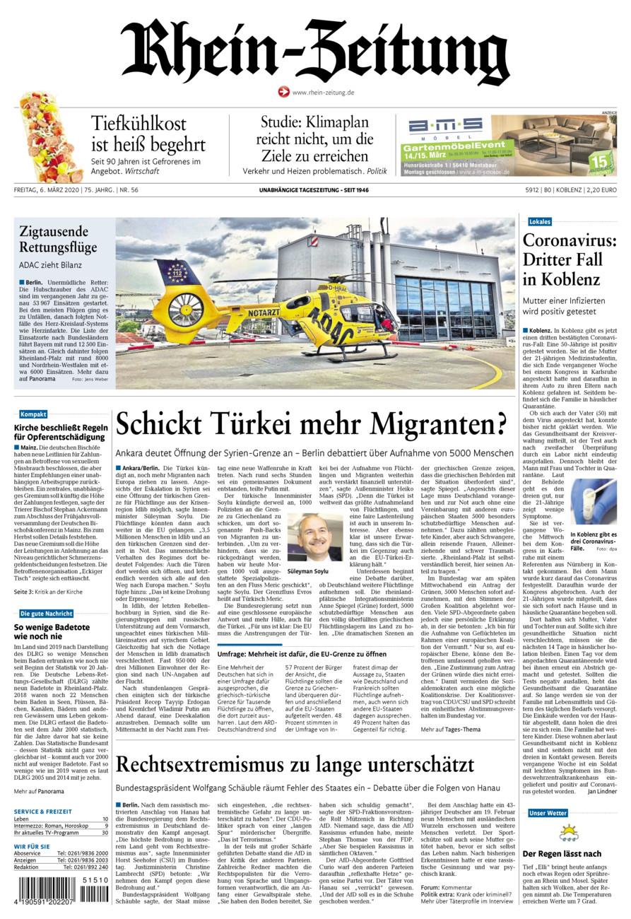 Rhein-Zeitung Koblenz & Region vom Freitag, 06.03.2020