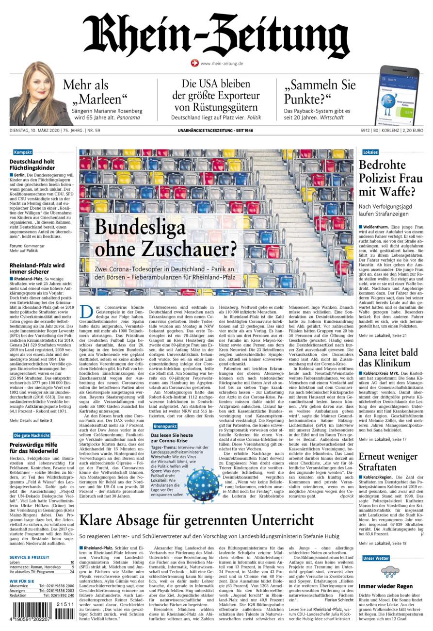 Rhein-Zeitung Koblenz & Region vom Dienstag, 10.03.2020