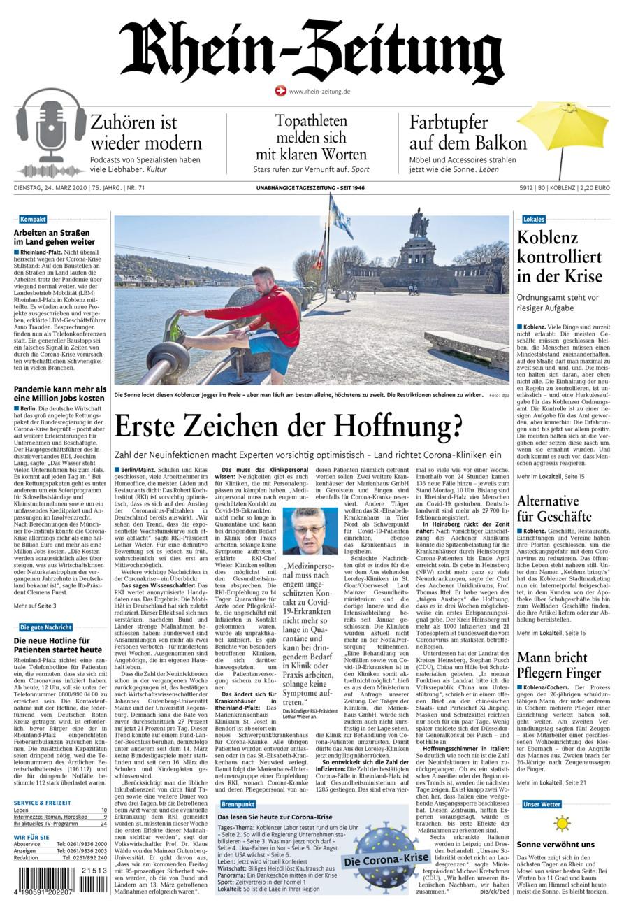 Rhein-Zeitung Koblenz & Region vom Dienstag, 24.03.2020
