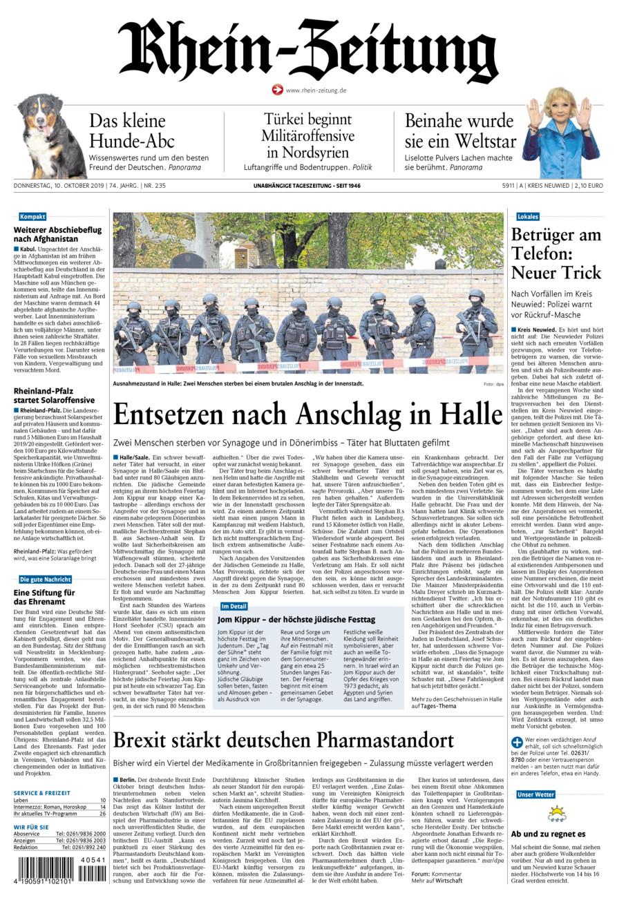 Rhein-Zeitung Kreis Neuwied vom Donnerstag, 10.10.2019