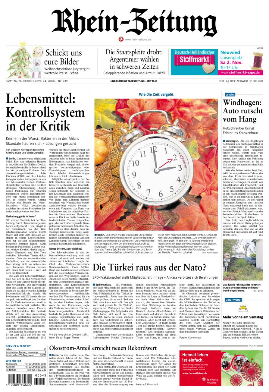 Rhein-Zeitung Kreis Neuwied vom Samstag, 26.10.2019